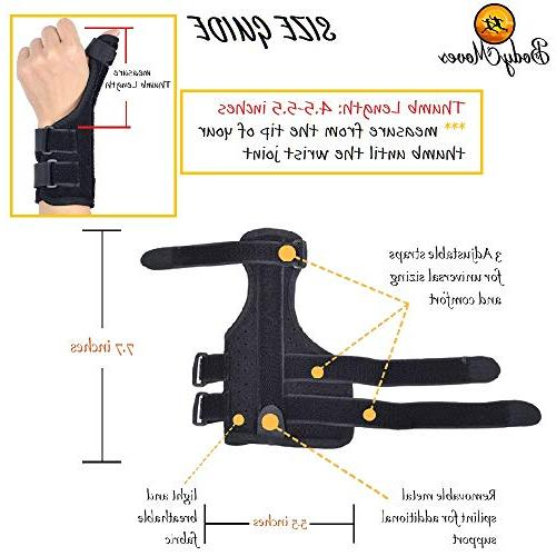 Brace Plus Finger Hot and for Tendonitis, Thumb Tunnel, Adjustable Reversible