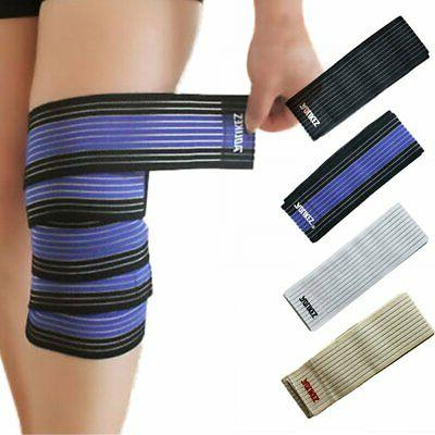 Knee Elbow Wrist Band Guard Shin Support Wrap Strap Brace Co