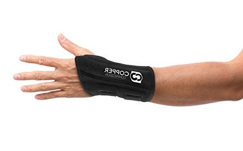 Copper Wrist - Guaranteed Highest Copper Content for Wrists, Carpal Tunnel, Night and Day Wrist Splint and and Left Hand