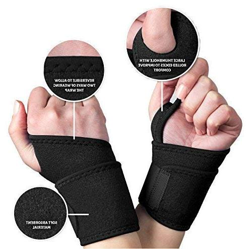 Hholding Adjustable for Carpal Tunnel,Volleyball,Badminton,Tennis,Basketball,Weightlifting-For and Right Hand