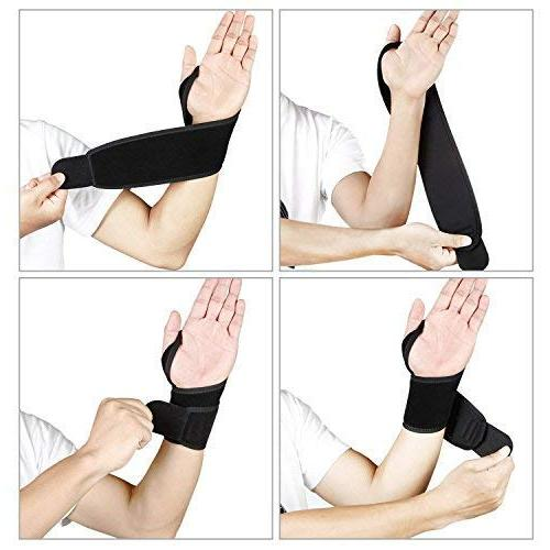Wrist Hholding Straps for Carpal Women and Right Black