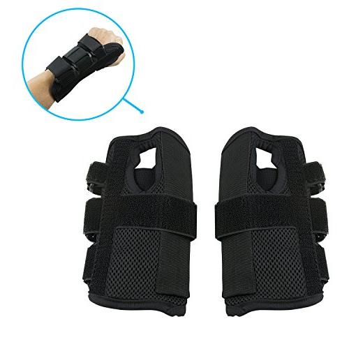 Wrist Brace Pair, , Small/Medium, Right Left Carpel Wrist Band, 3 Breathable Sports, Arthritis and