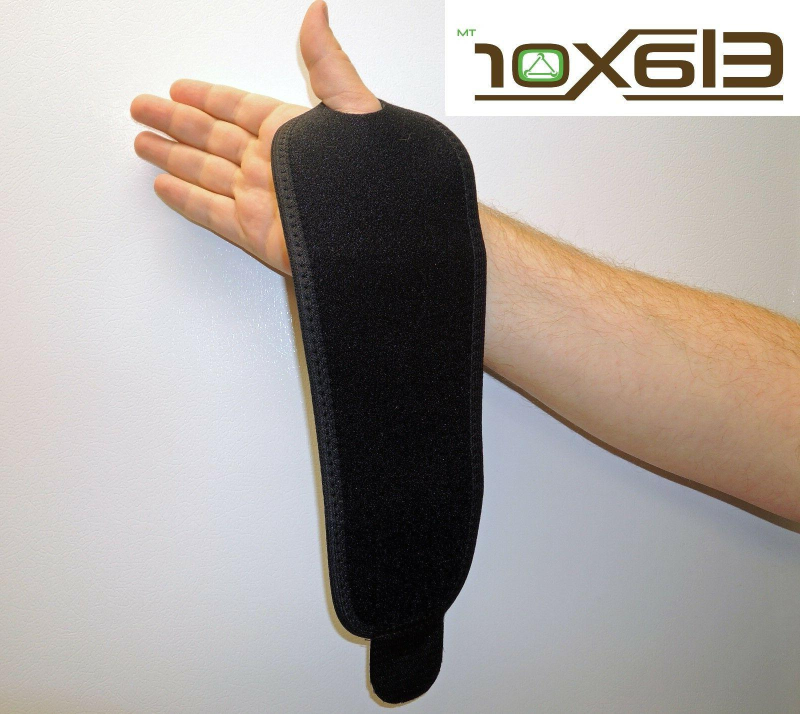 Wrist Brace Support Carpal Tunnel Splint Black Hand Strap Size