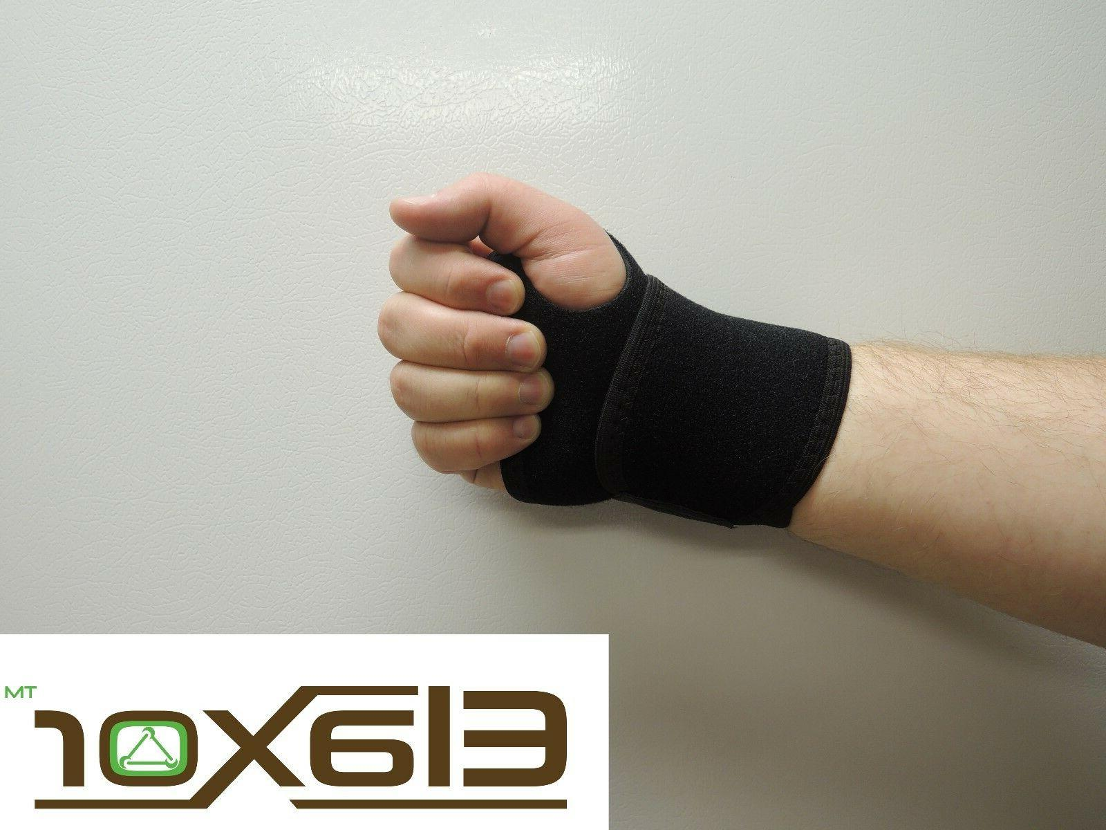 wrist brace support carpal tunnel splint black