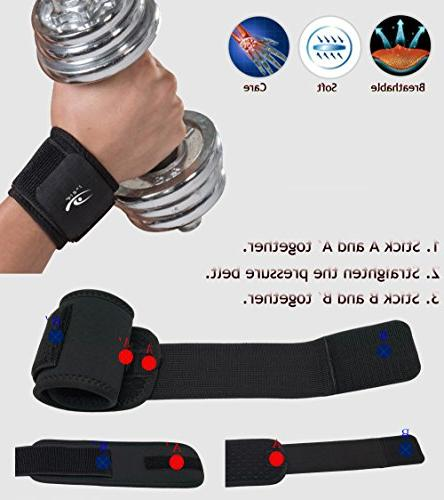 HiRui and Wrist for Weightlifting, Arthritis, Pain Relief-Wear
