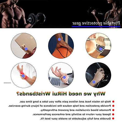 HiRui and Brace Wrist Weightlifting, Tendonitis, Carpal Tunnel Arthritis, Pain Relief-Wear Size Adjustable