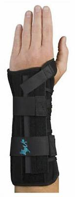 "Med Spec Wrist Lacer Support, 10 1/2"" Black, Universal Left"
