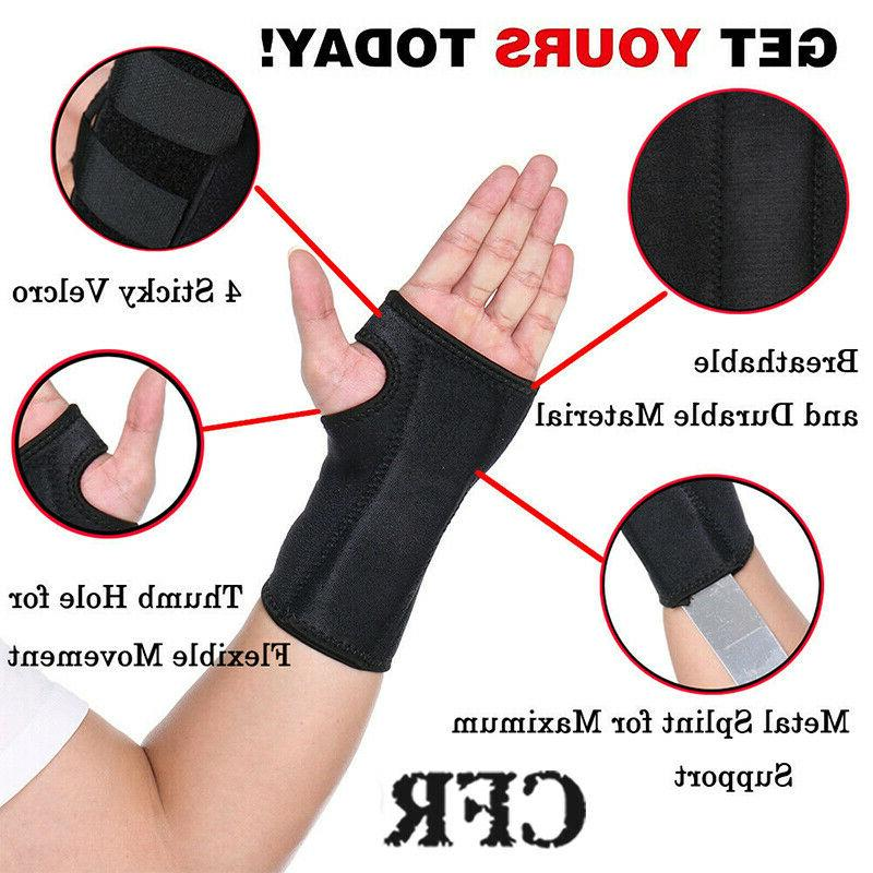 Wrist Support Hand Carpal Tunnel Splint Protector Injury FC