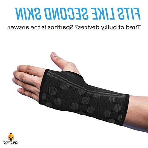 Sparthos Sleeves – Medical Compression for Carpal Pain Relief – Brace for Men Women
