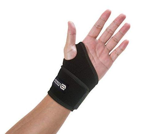 Copper Compression and Wrist Brace Guaranteed Highest Support Wrists, Carpal Tunnel, Arthritis, Tendonitis. Sleeve for Men Women Fit Right and Left