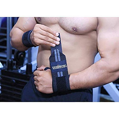 FITWISE Wrist Professional Grade Loops Weight Crossfit, Powerlifting, Training, Gym, Wrist Support Braces Gray