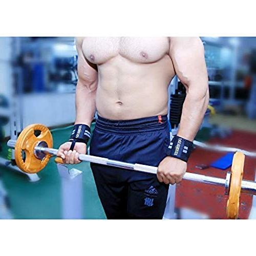 FITWISE Professional with Loops Crossfit, Powerlifting, Exercise, Training, Gym, Bodybuilding Wrist Support Men & Women Gray