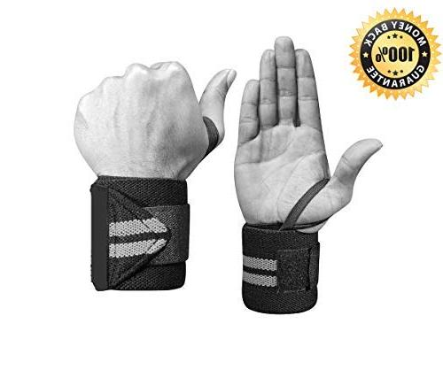 FITWISE Professional Loops - Weight Crossfit, Fitness Training, Bodybuilding - Wrist Braces for Men & Gray