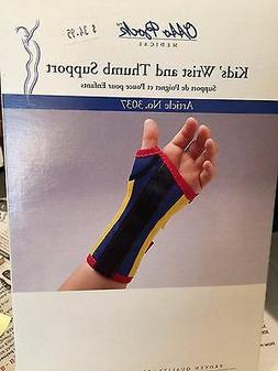 OTTO BOCK MEDICAL #3037 KID'S WRIST AND THUMB SUPPORT, NEW,