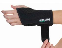 Mueller Green Fitted Wrist Brace, Black, Left Hand, Small/Me