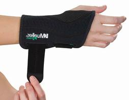 Mueller Green Fitted Carpal Tunnel Wrist Brace, Black, Left,