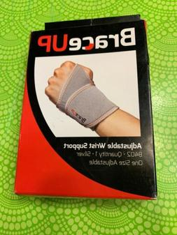 New BraceUP Adjustable Wrist Support B402 Silver One Size