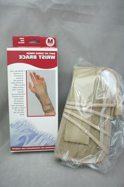 NEW Wrist Brace OTC Soft Fit Suede Finish Beige Different Si
