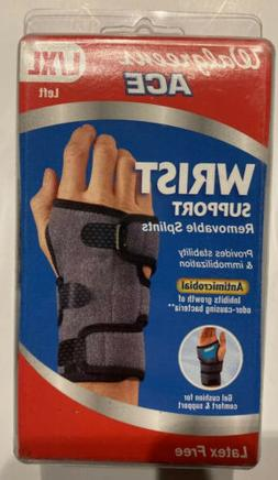 New! Wrist Support Brace Walgreens By Ace Left XL Removable