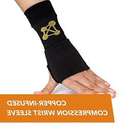 CopperJoint Copper Wrist Support, #1 Compression Sleeve - GU