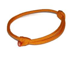 Orange Nautical Simple Minimalist Paracord Adjustable Slider