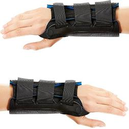 Ortho Armor Wrist Immobilizer in Black / Blue Wrist / Size: