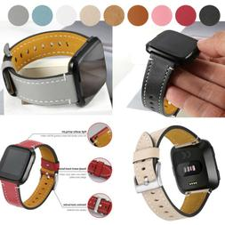 Replacement Genuine Leather Watch Wrist Band Bracelet for Fi