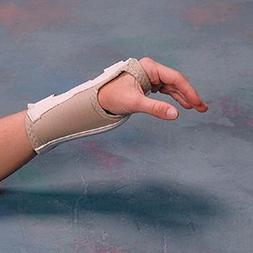 Rolyan D-Ring Wrist Braces Enlarged Thumb Hole - Right XS -