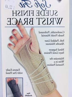 FLA Orthopedics Soft Fit Suede Finish Beige Wrist Brace Medi