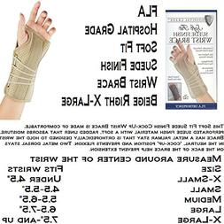 SOFT FIT SUEDE WRIST SPLINT, RT, XL BEIGE - RETAIL - 22-1501
