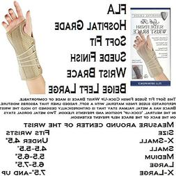 SOFT FIT SUEDE WRIST SPLINT, LT, LG BEIGE - RETAIL - 22-151L