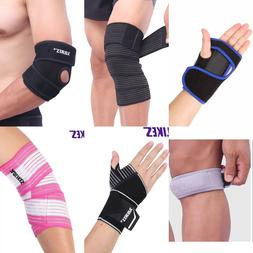 Sports Wrist Knee Pad Bracer Thigh Elbow Brace Strap Support