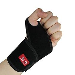 Kuangmi Sports Thumb Wrist Brace Basketball Tennis Badminton
