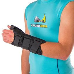 BraceAbility Thumb & Wrist Tendonitis Splint | Immobilizes T