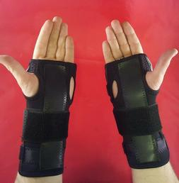 Two  UNIVERSAL Adjustable Wrist Brace Splints Carpal Tunnel,