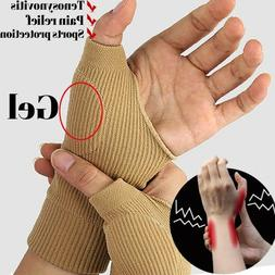 US Arthritis Gloves Wrist Thumb Support Hand Palm Brace Carp