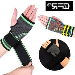 Wrist Brace Hand Support Sport Adjustable Sleeve Compression