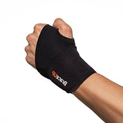 Wrist Brace Support Carpal Tunnel Splint Black Elastic Hand