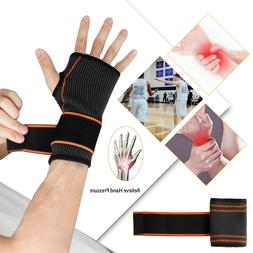 Wrist Hand Brace Support Sleeves Wrap Strap For Carpal Tunne