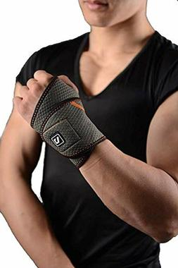 Wrist Support Brace with Adjustable Hook and Loop Fastener,