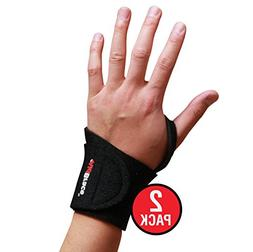AidBrace Wrist Support Wrap  – Fits BOTH Hands and Helps w