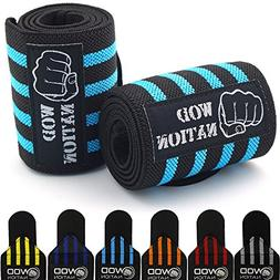 Wrist Wraps by WOD Nation - Wrist Support Straps  - Fits Bot