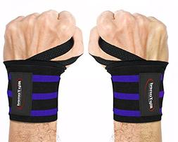 """Rip Toned Wrist Wraps by 18"""" Professional Grade with Thumb L"""