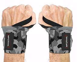 """Rip Toned Wrist Wraps - 18"""" Professional Grade with Thumb Lo"""