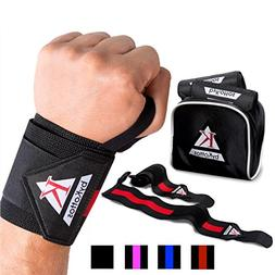 BYKOTTOS Red Wrist Wraps Weightlifting, Powerlifting Straps,
