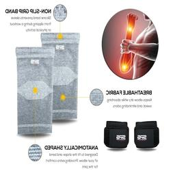 XL Compression Elbow Sleeves Support and Adjustable Wrist Su